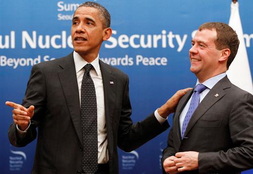 Обама и Медведев в США